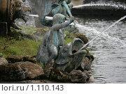"""Купить «Элементы фонтана """"Нептун"""" Петергоф», фото № 1110143, снято 15 августа 2009 г. (c) Удодов Алексей / Фотобанк Лори"""