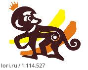 Обезьянка в короне. Стоковая иллюстрация, иллюстратор Светлана Бакланова / Фотобанк Лори
