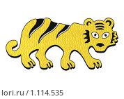 Желтый тигр. Стоковая иллюстрация, иллюстратор Светлана Бакланова / Фотобанк Лори