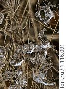 Тающий лед на траве. Стоковое фото, фотограф Андрей Сучков / Фотобанк Лори