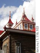 Купить «Старинный купеческий особняк (Дом с драконами). Томск - реставрация», фото № 1116103, снято 27 сентября 2009 г. (c) Александр Бурдовицин / Фотобанк Лори