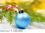 Купить «Новогодние елочные шары», фото № 1120855, снято 24 сентября 2009 г. (c) Александр Fanfo / Фотобанк Лори