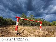 Купить «Проезд закрыт», фото № 1122179, снято 27 сентября 2009 г. (c) Олег Ивашкевич / Фотобанк Лори