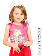 Купить «Маленькая девочка с солнцезащитными очками», фото № 1125031, снято 25 июля 2009 г. (c) Алексей Многосмыслов / Фотобанк Лори