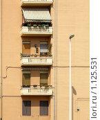 Купить «Фасад дома, балконы», фото № 1125531, снято 12 сентября 2009 г. (c) Neta / Фотобанк Лори