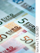 Купить «Банкноты Евро», фото № 1126007, снято 22 февраля 2008 г. (c) Роман Бородаев / Фотобанк Лори