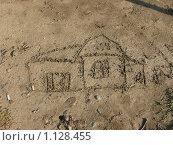 Рисунок на песке. Стоковое фото, фотограф Юлия Бобер / Фотобанк Лори