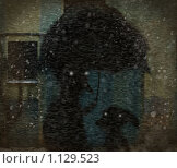Купить «А под зонтиком тихий шёпот», иллюстрация № 1129523 (c) Андреева Екатерина / Фотобанк Лори
