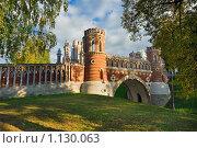 Купить «Фигурный мост в Царицыно, Москва», фото № 1130063, снято 3 октября 2009 г. (c) Fro / Фотобанк Лори