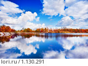 Купить «Осенний пейзаж», фото № 1130291, снято 3 октября 2009 г. (c) Евгений Захаров / Фотобанк Лори