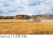 Купить «Уборка зерновых», фото № 1135735, снято 27 сентября 2009 г. (c) Сергей Болоткин / Фотобанк Лори