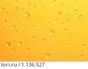 Купить «Фантастические капли воды на оранжевом фоне. Неповторимая  комбинация», фото № 1136527, снято 6 октября 2009 г. (c) Алексей Рогожа / Фотобанк Лори