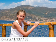 Купить «Девочка на яхте», фото № 1137135, снято 19 апреля 2019 г. (c) Алексей Хромушин / Фотобанк Лори