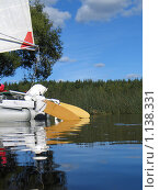 Катамаран на воде. Стоковое фото, фотограф Павлов Борис / Фотобанк Лори