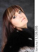 Купить «Портрет красивой девушки в меховом воротнике», фото № 1139595, снято 26 марта 2009 г. (c) ElenArt / Фотобанк Лори