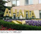 Купить «Клумба в городе Анапе», фото № 1140227, снято 27 июня 2009 г. (c) Ирина / Фотобанк Лори
