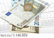 Купить «Деньги на таблице с цифрами», фото № 1140859, снято 8 октября 2009 г. (c) Андрей Некрасов / Фотобанк Лори