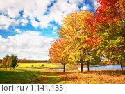 Купить «Осенний пейзаж», фото № 1141135, снято 3 октября 2009 г. (c) Евгений Захаров / Фотобанк Лори