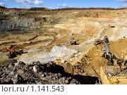 Купить «Вид сверху: карьер», фото № 1141543, снято 21 сентября 2009 г. (c) Хайрятдинов Ринат / Фотобанк Лори
