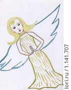 Купить «Ангел. Рисунок», иллюстрация № 1141707 (c) Ольга Лерх Olga Lerkh / Фотобанк Лори