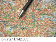 Купить «Ручка на карте Европы», фото № 1142335, снято 15 октября 2006 г. (c) Elnur / Фотобанк Лори