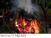 Костёр с дымом. Стоковое фото, фотограф Толкачёв Евгений / Фотобанк Лори