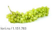 """Купить «Гроздь винограда сорта """"Кишмиш"""" на белом фоне», фото № 1151783, снято 24 августа 2009 г. (c) Роман Иващенко / Фотобанк Лори"""