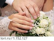 Купить «Мужская и женская рука на букете роз», фото № 1152127, снято 16 августа 2018 г. (c) Георгий Солодко / Фотобанк Лори