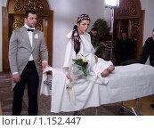 Купить «Денис Гранчак и Анна Седакова», фото № 1152447, снято 23 сентября 2018 г. (c) natalya ryzhko / Фотобанк Лори