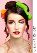 Купить «Брюнетка с ярким макияжем», фото № 1154647, снято 13 сентября 2009 г. (c) Serg Zastavkin / Фотобанк Лори