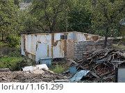 Купить «Процесс сноса старого дома из глины», фото № 1161299, снято 8 сентября 2008 г. (c) Георгий Солодко / Фотобанк Лори