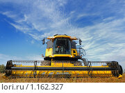 Купить «Комбайн в поле», фото № 1162327, снято 16 октября 2009 г. (c) Дмитрий Калиновский / Фотобанк Лори