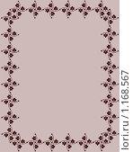 Фоновое изображение грязно-розового цвета, обрамленное стилизованными рисунками цветов. Стоковая иллюстрация, иллюстратор Бридько Анна / Фотобанк Лори