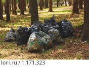 Мешки с мусором. Стоковое фото, фотограф Толкачёв Евгений / Фотобанк Лори