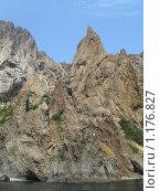 Скалы потухшего вулкана Кара-Даг (вид с моря) Стоковое фото, фотограф Татьяна Емельянова / Фотобанк Лори