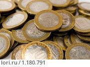Россыпь десятирублевых монет. Стоковое фото, фотограф Ипполитов Александр / Фотобанк Лори