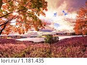 Яркий осенний пейзаж. Стоковое фото, фотограф Евгений Захаров / Фотобанк Лори