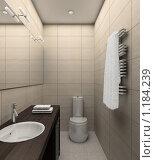 Купить «3D-интерьер ванной комнаты в современном стиле», иллюстрация № 1184239 (c) Майер Георгий Владимирович / Фотобанк Лори