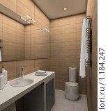 Купить «3D-интерьер ванной комнаты в современном стиле», иллюстрация № 1184247 (c) Майер Георгий Владимирович / Фотобанк Лори