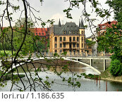 Купить «Пешеходный мост через залив на реке Одра. Вроцлав. Польша», фото № 1186635, снято 29 апреля 2009 г. (c) Татьяна Федулова / Фотобанк Лори