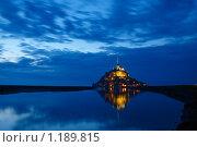 Мон Сан-Мишель вечером (2009 год). Стоковое фото, фотограф Aleksey Trefilov / Фотобанк Лори