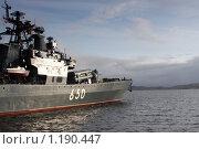 """Купить «Большой противолодочный корабль """"Адмирал Чабаненко""""», фото № 1190447, снято 29 сентября 2009 г. (c) Ямаш Андрей / Фотобанк Лори"""
