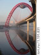 Купить «Утро. Туман. Живописный мост», фото № 1191831, снято 20 октября 2009 г. (c) Есакова Мария / Фотобанк Лори