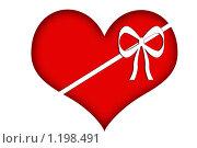 Сердце в подарок. Стоковая иллюстрация, иллюстратор Екатерина Будник / Фотобанк Лори