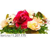 Купить «Букет различных цветов на белом фоне», фото № 1207175, снято 28 июля 2007 г. (c) Elnur / Фотобанк Лори