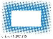 Голубая рамка. Стоковая иллюстрация, иллюстратор Elnur / Фотобанк Лори