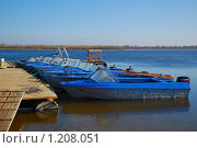 Купить «Лодки у понтона», эксклюзивное фото № 1208051, снято 7 апреля 2009 г. (c) Алёшина Оксана / Фотобанк Лори