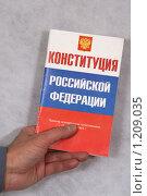 Купить «Конституция России», фото № 1209035, снято 12 ноября 2009 г. (c) Александр Секретарев / Фотобанк Лори