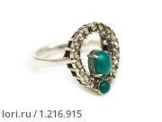 Купить «Серебряное кольцо с драгоценными камнями и жемчугом», фото № 1216915, снято 1 декабря 2007 г. (c) Elnur / Фотобанк Лори