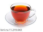 Купить «Чашка чая на белом фоне», фото № 1219043, снято 19 августа 2009 г. (c) Денис Ларкин / Фотобанк Лори
